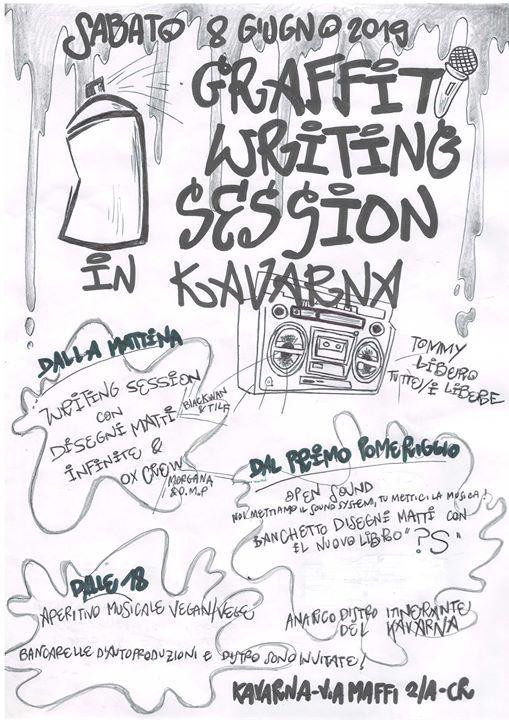 Graffiti Writing Session in Kavarna