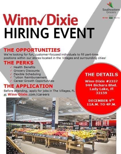 WinnDixie Job Fair Live Oak
