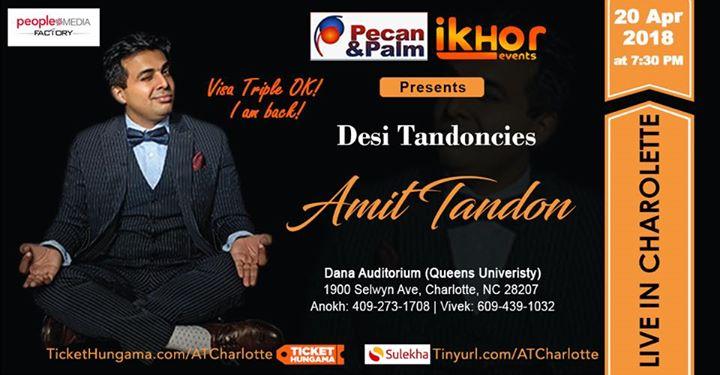Amit Tandon Live in Charlotte