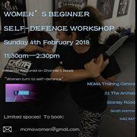 WOMENS BEGINNER SELF DEFENCE WORKSHOP