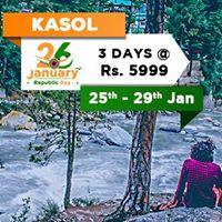 Kasol Tosh 26Jan Weekend Group Trip With Trekking Bonfire