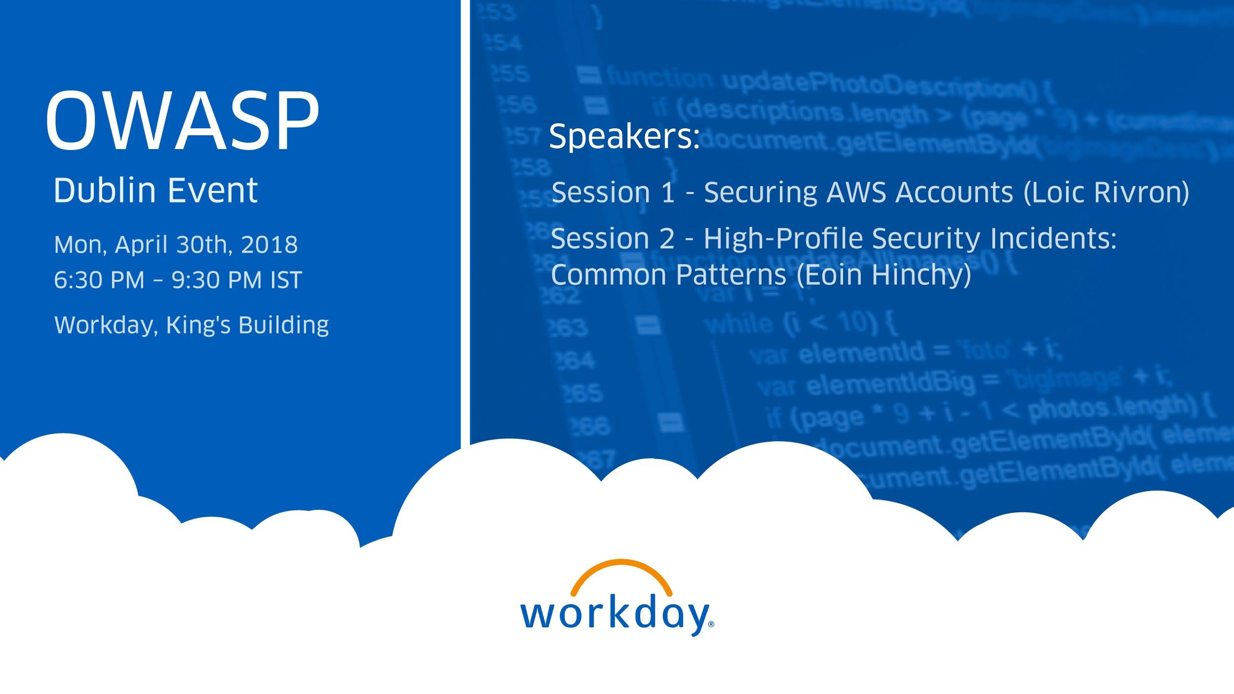 OWASP Dublin - Security Lessons Learned on Leadership & AWS