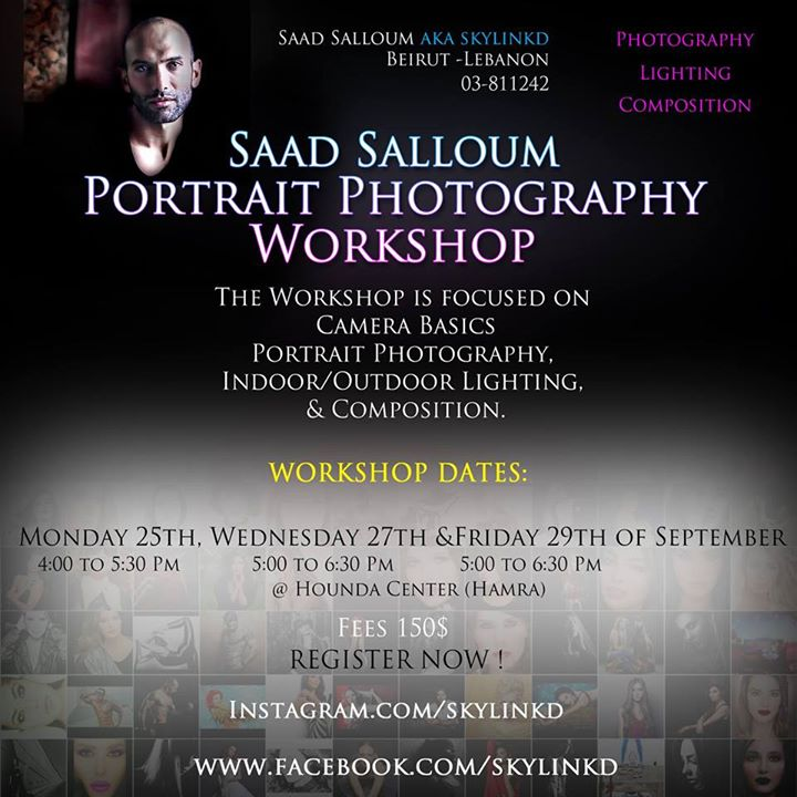 Portrait Photography Workshop by Saad Salloum aka skylinkd