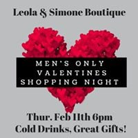 Mens Only Shopping Night