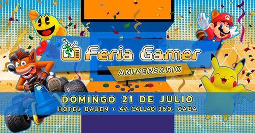 Feria Gamer  Edicin Aniversario - Mega Evento 2 Pisos
