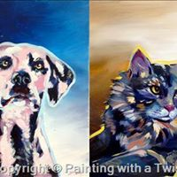 Paint your own pet at painting with a twist jacksonville for Painting with a twist arizona