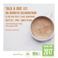 Organic Week Talk and Doc at Sams Place
