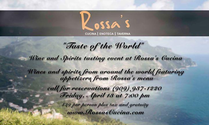 Taste Of The World At Rossa S Cucina Enoteca Ontario