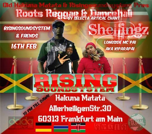 Roots Reggae Dancehall With Rising Soundsystem Longside Pai