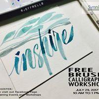 Free 1 Day Brush Calligraphy Workshop