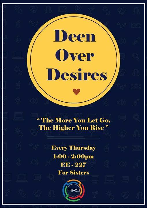 Deen Over Desires