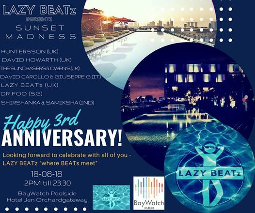LAZY BEATz Presents 3rd Year Anniversary Pool Party at BayWatch