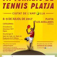 Torneig tennis platja LAmpolla