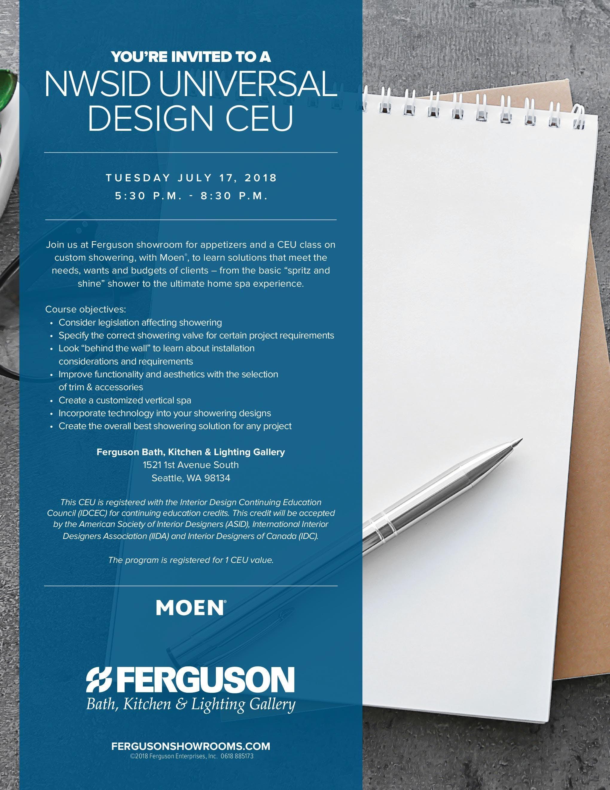 Universal Design and Custom Showers at Ferguson!   Seattle