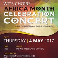 Wits Choirs Africa Month Celebration Concert