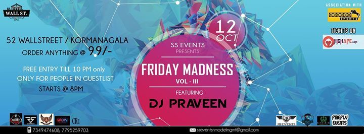 FRIDAY MADNESS VOL-3