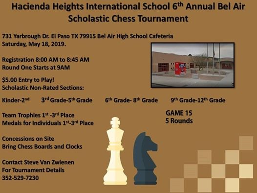 6th Annual HHIES at Bel Air Scholastic Chess Tournament | El