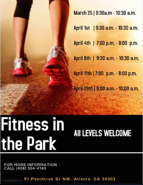 Fitness in the Park at Woodruff Park