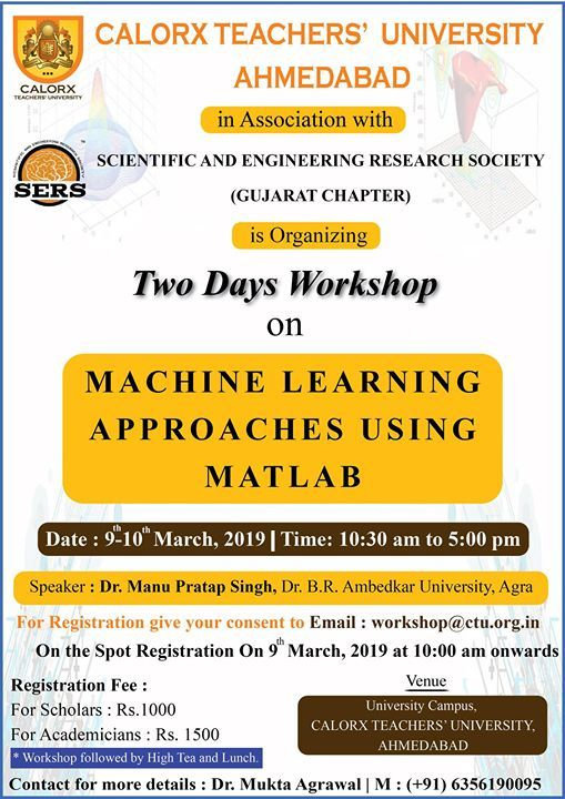 Two Day Workshop on Machine Learning Approaches Using Matlab