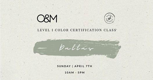 O&M Level 1 CR.color Certification Class