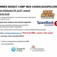 Sommer basketball camp i Fritidsparken