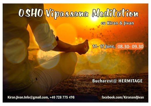 OSHO Vipassana Meditation  7 days practice with Kiran & Jivan