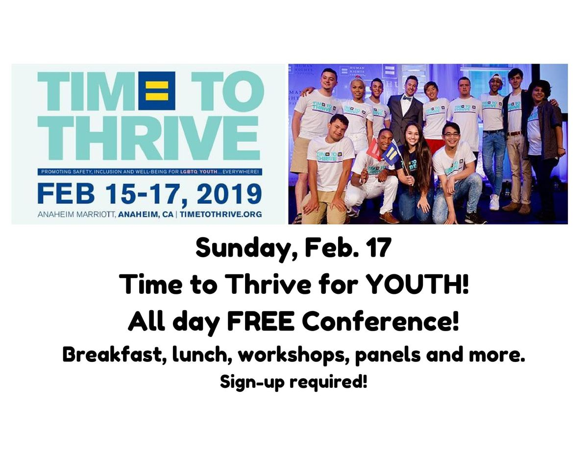 Time to Thrive Youth Day