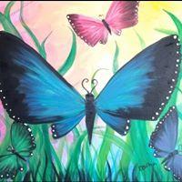 Paint Nite - Colourful Butterflies - Niagara Falls