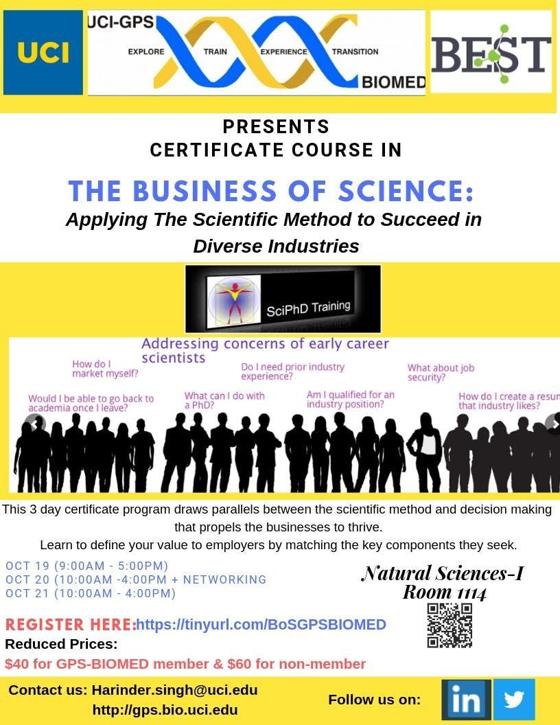 The Business of Science Applying The Scientific Method to Succeed in Diverse Industries.
