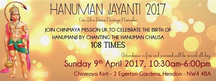 Hanuman Jayanti at Chinmaya Mission UK, Hendon