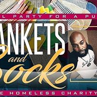3rd Annual Party with a Purpose Socks and Blankets for the homeless