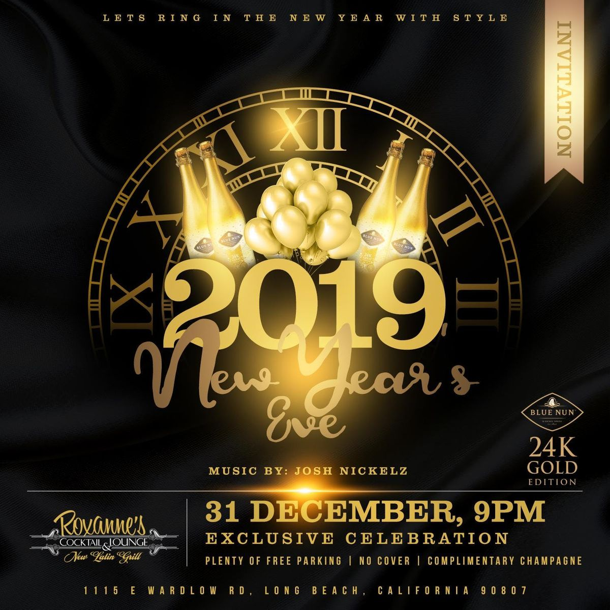 new years eve 2019 dance party midnight champagne toast at roxannes