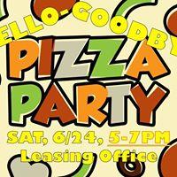 Hello-Goodbye Pizza Party