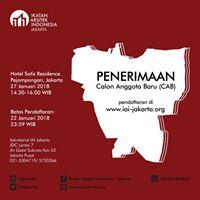 Penerimaan Calon Anggota Baru IAI Jakarta 2017