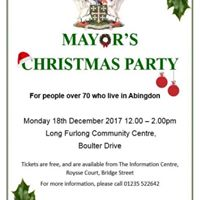 Mayors Over 70s Christmas Party