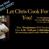 Cooking Demo Featuring Christopher Lee