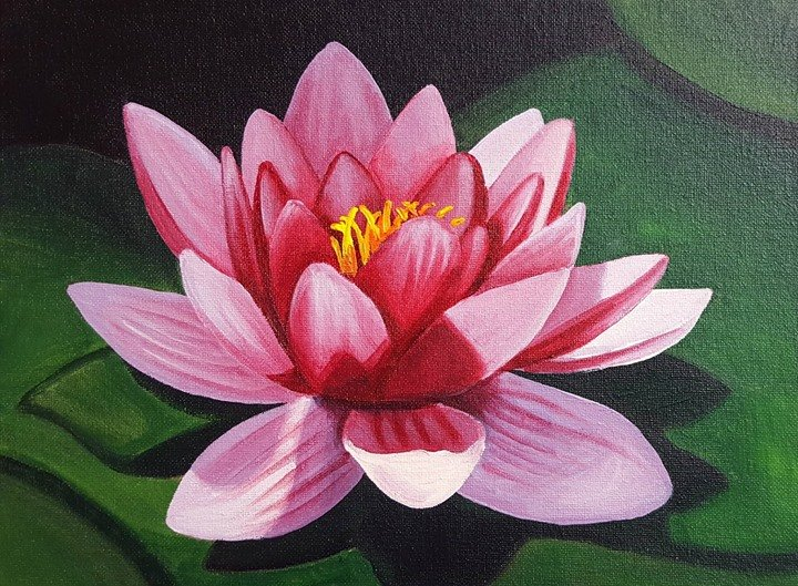 Floral Beginner Acrylic Painting Class Quot Water Lily Quot At