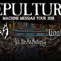 Sepultura &amp Obscura &amp Goatwhore &amp FFAA - Dublin - 15.3.18