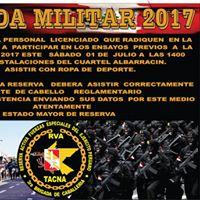 Ensayos Previos Parada Militar 28 Julio 2017