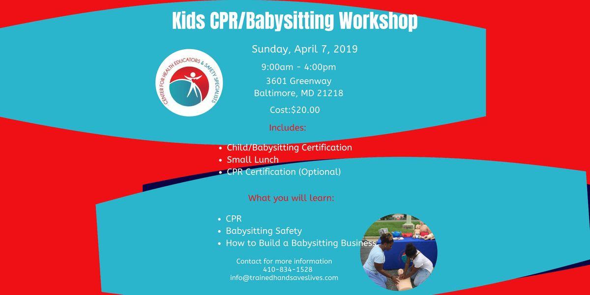 Kids CPRBabysitting Workshop