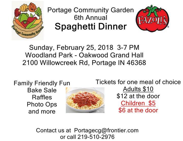 Spaghetti Dinner Fundraiser for the PCG