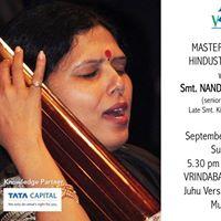 Masterclass with Smt. Nandini Bedekar