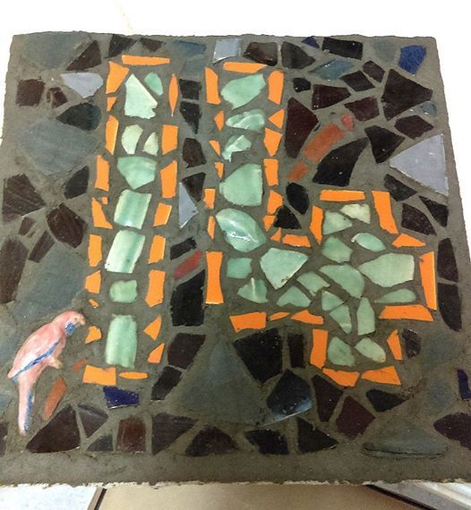 Mosaic Class - Thursday Morning - Make your own House Number