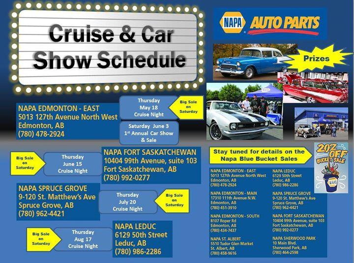 Napa Sherwood Park Hours >> Napa Cruise Night Fort Saskatchewan At 10404 99 Ave Fort