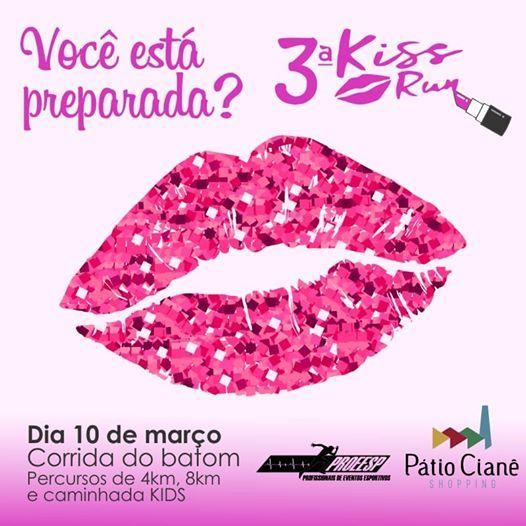 3 Kiss Run - corrida do batom