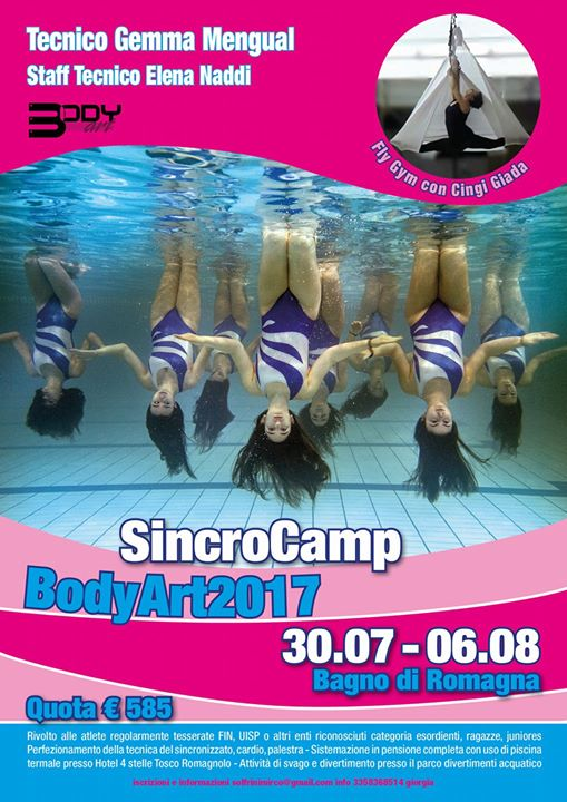 Sincro Camp Body Art Summer 2017 at Body Art, Bagno di Romagna