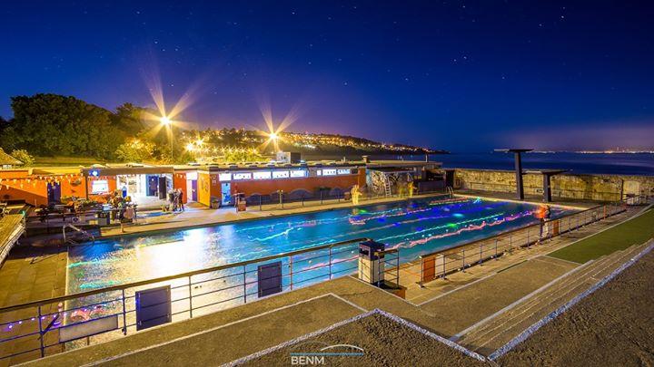 Full moon swim may 2016 at portishead open air pool bristol - Open air swimming pool portishead ...