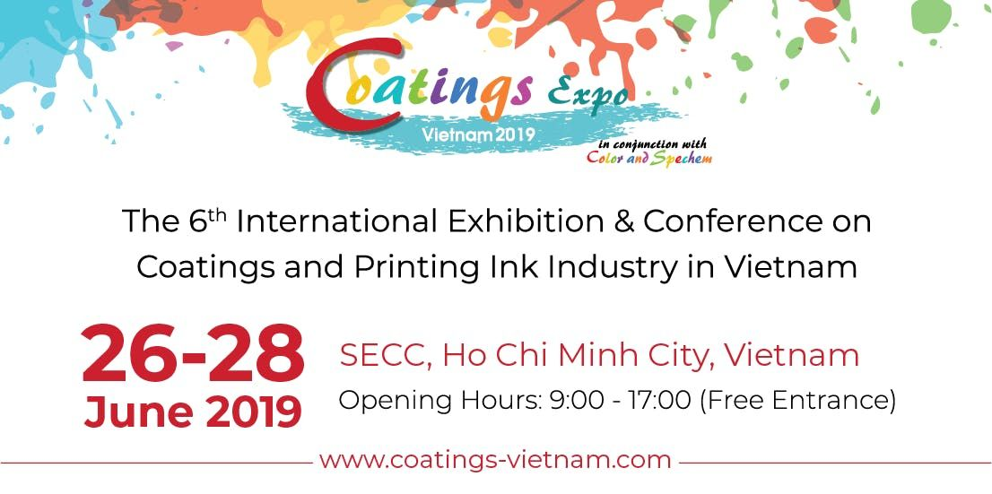 Coatings Vietnam 2019 at SECC, Ho Chi Minh City