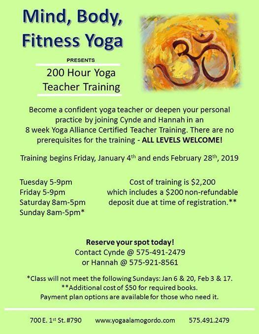 Yoga Teacher Training 200 Hour At Mind Body Fitness Yoga Mexico