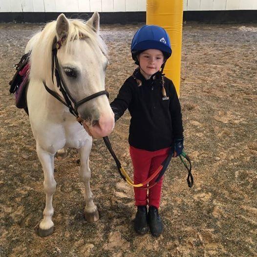 Child beginnernovice group riding lessons on Saturdays